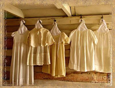 Pioneer Days-child's Dresses Art Print