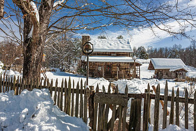 Photograph - Pioneer Farm In Winter by Mary Almond