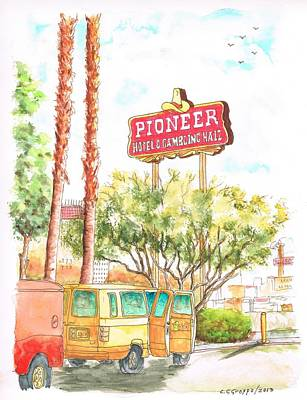 Pioneer Hotel And Gambling Hall Sign, Laughlin, Nevada Original by Carlos G Groppa