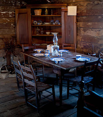 Pioneer Kitchen Table And Cubbard Art Print by Douglas Barnett
