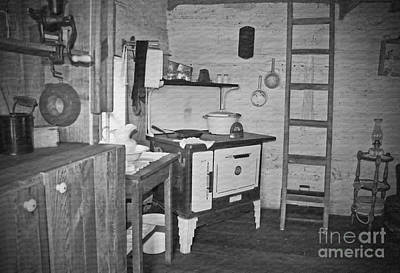 Photograph - Pioneer Kitchen With Wood Stove by Valerie Garner