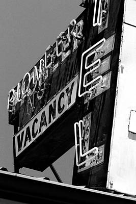 Photograph - Pioneer Motel Neon by Daniel Woodrum
