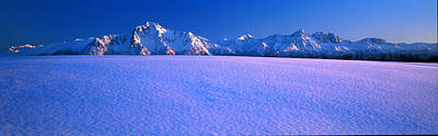 Pioneer Pk Chugach Mts Ak Usa Art Print by Panoramic Images