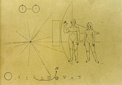 Carousel Collection Photograph - Pioneer Plaque, 1972 by Granger