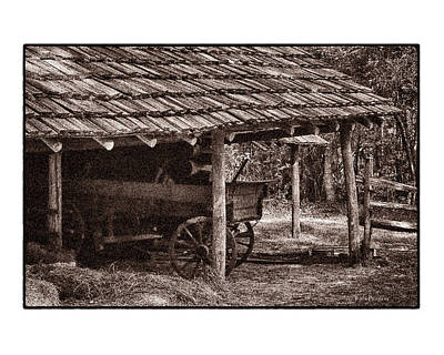 Photograph - Pioneer Shed Calotype by Travis Burgess