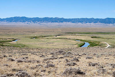 Photograph - Pioneer Trail And Sweetwater River In Wyoming by Cindy Singleton