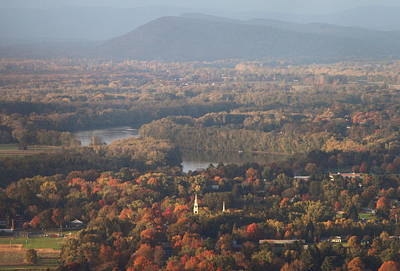 Mount Toby Photograph - Pioneer Valley Fall Foliage From Holyoke Range by John Burk