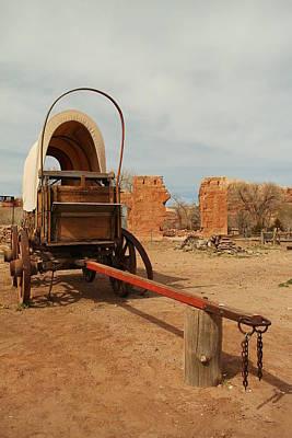 Pionner Wagon Art Print by Jeff Swan