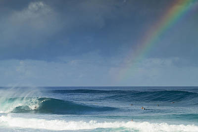 Surfing Photograph - Pipe At The End Of The Rainbow by Sean Davey