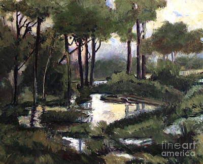 Indiana Landscapes Painting - Pipe Creek Falls by Charlie Spear