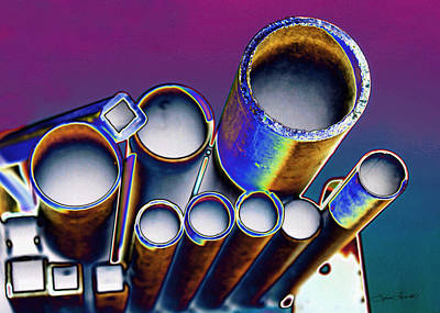 Blue Abstract Photograph - Pipe Dreams by Sylvia Thornton