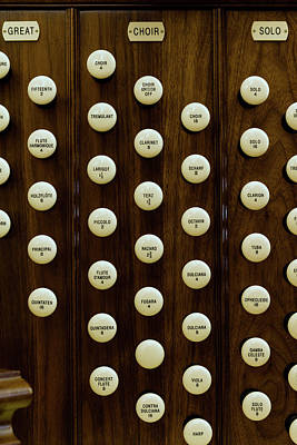 Organ Pipes Photograph - Pipe Organ Console, The Temple by Panoramic Images