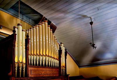 Photograph - Vintage Pipe Organ by David and Carol Kelly