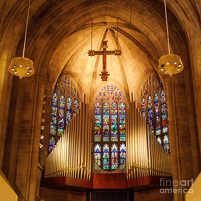 Stained Glass 3 Photograph - Pipe Organ by Grace Grogan