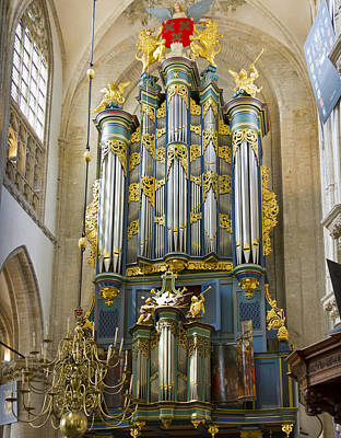 Pipe Organ In Breda Grote Kerk Art Print