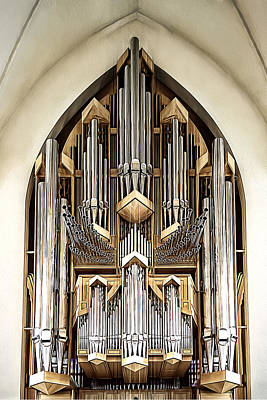 Pipe Organ Art Print by Maria Coulson