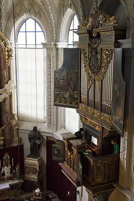 Pipe Organ Stall In Hofkirche (court Church). Art Print by Dennis K. Johnson