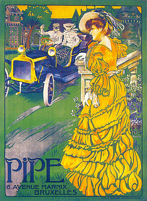 Pipe Vintage Car Poster Art Print by JE Goosnes