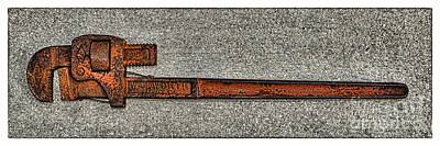 Photograph - Pipe Wrench Made In U S A by Olga Hamilton