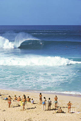 Pipeline Masters  Hawaii  1977 Art Print by Lance Trout