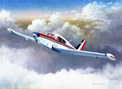 Painting - Piper Comanche 250 by Douglas Castleman