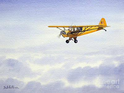 Painting - Piper J-3 Cub by Bill Holkham