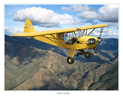 Aircraft Poster Photograph - Piper Cub by Larry McManus