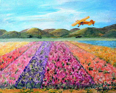 Piper Cub Painting - Piper Cub Sunday by Terry Taylor