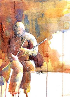 Bagpipes Wall Art - Painting - Piper by Robert Yonke