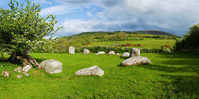 Social History Photograph - Pipers Stone Bronze Age Stone Circle 14 by Panoramic Images