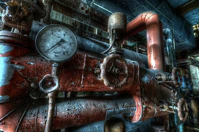 Digital Art - Pipes And Clocks by Nathan Wright