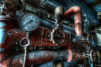 Creepy Digital Art - Pipes And Clocks by Nathan Wright