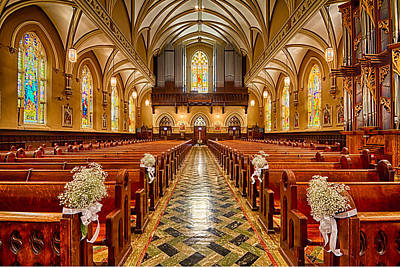 Our Lady Of Mt Carmel Photograph - Pipes And Pews - Our Lady Of Mt. Carmel Catholic Church In Chicago by Lindley Johnson