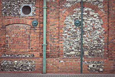 Sewage Photograph - Pipes And Wall by Tom Gowanlock