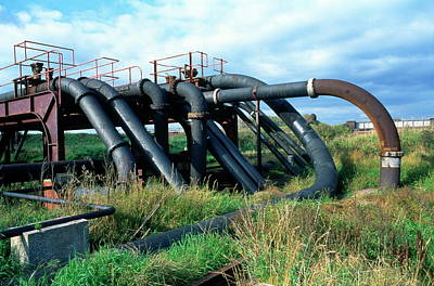 Cheshire Wall Art - Photograph - Pipes Carrying Brine by Robert Brook/science Photo Library