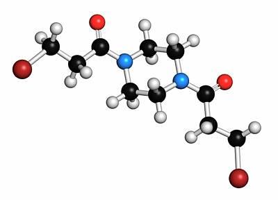 Atomic Image Photograph - Pipobroman Cancer Chemotherapy Drug by Molekuul