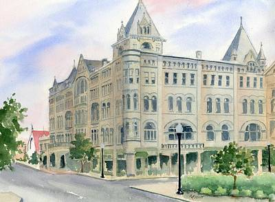 Ohio Painting - Piqua Library by Marsha Elliott