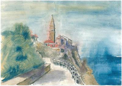 Piran - St. George Church Art Print