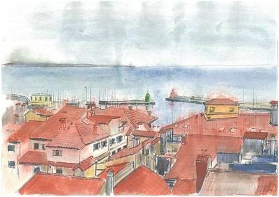 Piran - View From St.george's Church Art Print