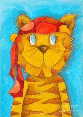 Crafts For Kids Painting - Pirate Cat by Sonja Mengkowski