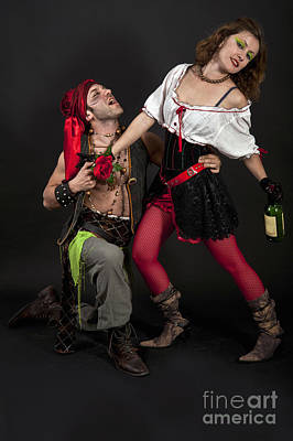 Female Pirate Photograph - Pirate Couple 1 by Ilan Amihai