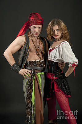 Female Pirate Photograph - Pirate Couple  by Ilan Amihai