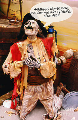 Art Print featuring the photograph Pirate For Halloween by Gary Brandes