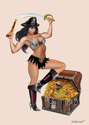 Doubloon  - Pirate Girl's Treasure Chest by Glenn Holbrook