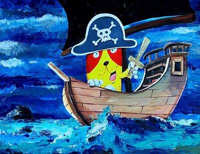 Pirate Kitty Art Print by Scott Nelson