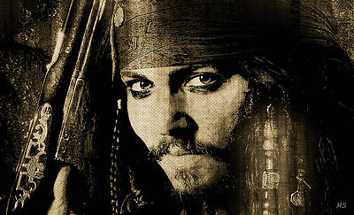 Digital Art - Pirate Life - Sepia by Absinthe Art By Michelle LeAnn Scott