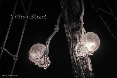 Piracy Jolly Roger Bones Danger Photograph - Pirate Mast Lights by LeeAnn McLaneGoetz McLaneGoetzStudioLLCcom