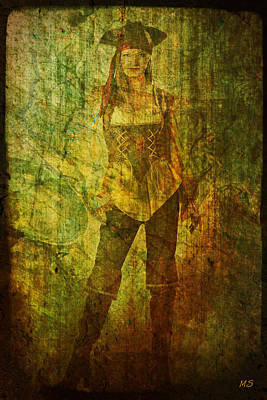 Digital Art - Pirate Samantha - Dirty Gold by Absinthe Art By Michelle LeAnn Scott