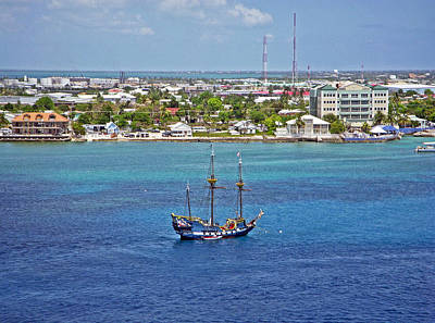 Blue Photograph - Pirate Ship In Cozumel by Aimee L Maher Photography and Art Visit ALMGallerydotcom