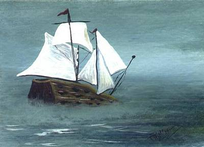 Pirate Ship Art Print by Phyllisann Arthurs